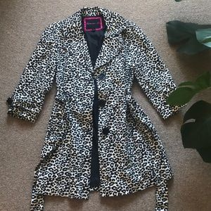 Forever 21 Black and White Leopard Print Jacket